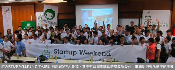 安石活動 Startup Weekend Taipei 大成功!